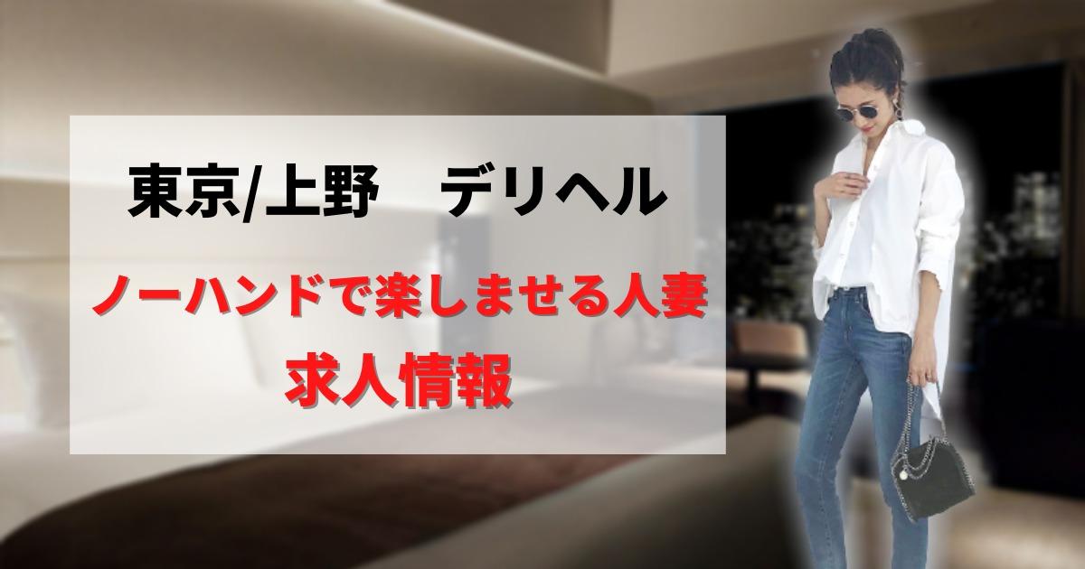 【東京】ノーハンドで楽しませる人妻(上野店)の求人情報【デリヘル】